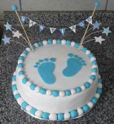 Torta baby shower varon Más