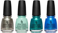 It's A-Boat Time!, Too Much Of A Good Fling, Don't Teal My Vibe, Crushin' On Blue. - China Glaze Spring Fling, spring 2017