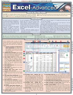 This 6-page guide is the perfect resource tool for those Excel users who have mastered the program's basic concepts and want to continue further. The guide is color-coded to refer to all versions of Excel, as well as information specific to Excel 2007 and earlier versions. Each subject covered is en