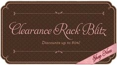 Up to 80% Clearance Rack Blitz