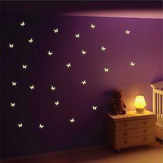 Butterfly Room, Butterfly Wall Decor, Butterfly Wall Stickers, Butterfly Kids, Purple Rooms, Purple Walls, Wall Stickers Red, Wall Decals, Wall Art