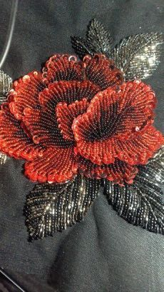 Wonderful Ribbon Embroidery Flowers by Hand Ideas. Enchanting Ribbon Embroidery Flowers by Hand Ideas. Zardosi Embroidery, Tambour Embroidery, Hand Work Embroidery, Couture Embroidery, Hand Embroidery Stitches, Silk Ribbon Embroidery, Flower Embroidery, Etsy Embroidery, Sequin Embroidery