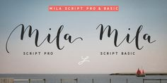 Mila Script Handmade brush script with round and soft letterforms, a low x-height and jumping baseline. Mila Script Sans Hand-drawn 'all caps' in three different weights. Mila Script and Mila Script Sans go well together: combine them and equal the line weights by choosing Light, Regular or Bold. Always keep it way smaller than Mila [...]