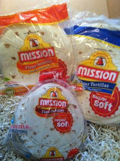 get these .. mission SUPER SOFT tortilla for all recipes ... won't get too crispy or soggy