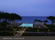 The view from your room's balcony at #lavilladelre #infinity #pool #sardinia #italy www.lavilladelre.com