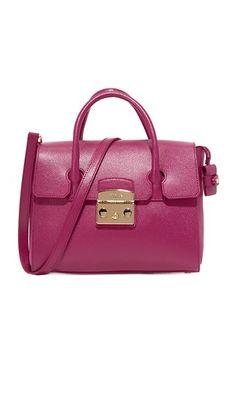 FURLA Metropolis Small Satchel. #furla #bags #shoulder bags #hand bags #leather #satchel #