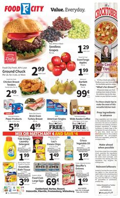 Food City Weekly Ad October 12 - 18, 2016 - http://www.olcatalog.com/grocery/food-city-weekly-ad.html