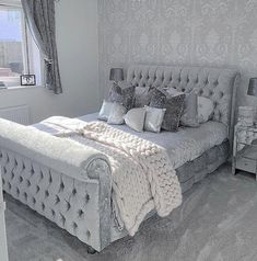 Bedroom ideas for quite awe inspiring room decor. Please Try the bedroom design post 7548794025 right now. Glam Bedroom, Cozy Bedroom, Home Decor Bedroom, Master Bedroom, Modern Bedroom, Bedroom Ideas Grey, Scandinavian Bedroom, Contemporary Bedroom, Minimalist Bedroom