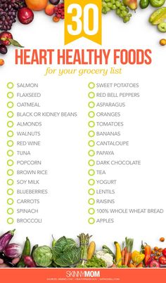 30 heart-healthy foods for your shopping list - Health and Wellness Tips . - 30 Heart-Healthy Foods for Your Grocery List – Health and Wellness Tips – List - Heart Healthy Snacks, Healthy Food List, Healthy Drinks, Foods For Heart Health, Diet Drinks, Heart Healthy Breakfast, Healthy Heart Tips, Eat Healthy, Heart Healthy Vegetarian Recipes