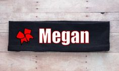 Personalized Headband, you pick your color, cheerleading gift ideas, cheerleading uniform, cheer team, Nationals, gifts under 5 dollars
