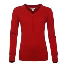 Front image of the Bushmanshop Biorka women's red cotton wool pullover