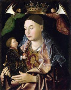 antonello da messina (attr.), virgin and child (madonna salting), 1460s, london, national gallery