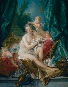 François Boucher, The Toilette of Venus, 1751, oil on canvas, overall: 108.3 x 85.1 cm (42 5/8 x 33 1/2 in.), framed: 142.9 x 119.4 x 11.4 cm (56 1/4 x 47 x 4 1/2 in.). Lent by The Metropolitan Museum of Art, Bequest of William K. Vanderbilt, 1920 (20.155.9).