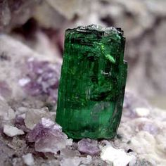 Maine Tourmaline - looks like Kryptonite!