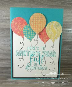 Marelle Taylor Stampin' Up! Demonstrator Sydney Australia: Balloon Adventures Pop-up