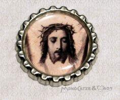 -f026a- Kronkorken Magnet, JESUS 1, € 2,80 , bottlecap von Mondcatze´s Zauberwerkstatt auf http://de.dawanda.com/shop/Mondcatze