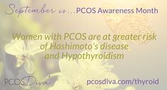  Day Women with PCOS are at greater risk of Hashimotos and hypothyroidism. Pcos Vitamins, Pcos Awareness Month, Types Of Thyroid, Hypothyroidism Diet, Healthy Diet Tips, Thyroid Problems, Health Problems, Diets For Women, Hormone Imbalance