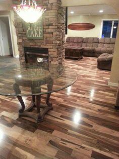 What a transformation hardwoods can make! Brazilian Pecan. Installed by Progressive Builders Group, LLC in Flint Michigan.