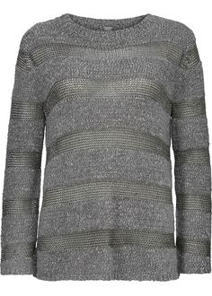 Sweater grå 22427 Striped Knit - 9315 steel grey