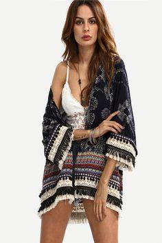 5857572388b7a Fringe Boho Kimono. Dms BoutiqueEstilo TribalWoman ...