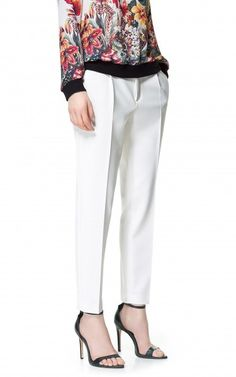 Zara cropped trousers with front pleat, $69, zara.com
