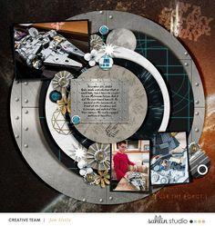 Disney Star Wars In a Galaxy Far Far Away digital scrapbook layout using Project Mouse (Galaxy): by Sahlin Studio