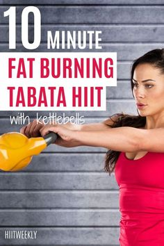 This quick 10-minute tabata HIIT workout with kettlebells will help you to boost your metabolism and get into amazing shape in no time. Kettlebell Workouts For Women, Weights Workout For Women, Great Ab Workouts, Tabata Workouts, Weight Training Workouts, Hiit, Flat Tummy Workout, Lose Body Fat, Fat Burning Workout