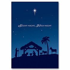 holy night christmas card hs1306 religious christmas cards deluxe religious christmas cards christmas - Deluxe Christmas Cards