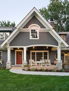 Kendall Charcoal With Trim In Benjamin Moore S Acadia White Grey Exterior Craftsman Colors