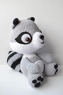 Amigurumi raccoon pattern  Crochet pattern  Baby raccoon pattern