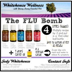 The Flu Bomb Thieves. Lemon. Lemon. Melaleuca. Frankincense.