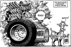 KAL's cartoon | The Economist Political Cartoons, Satire, Cartoon Art, Monster Trucks, Funny, Euro, Editorial, Google, Art