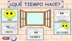 El tiempo - The weather (Español - Spanish) Preschool Math, Ideas Para, Homeschool, Floor Plans, Education, Uni, Apps, Kids Calendar, Kindergarten Calendar