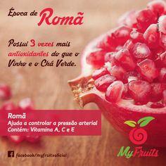 Romã  Compartilhe essa ideia #myfruits #myfruitsoficial #frutas #romã #vidasaudavel #ComerFrutasFazBem #habitosaudavel Curta nosso Instagram: MyFruitsOficial