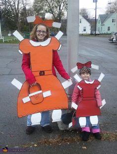 Paper Dolls DIY Halloween Costumes