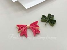 Quilling-bow & three leaf clover