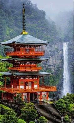 19 Reasons to Love Japanan an Unforgettable Travel Destination The pagoda of Seigantoji and Nachi no Taki Waterfall, Japan Places To Travel, Travel Destinations, Places To Visit, Places Around The World, Around The Worlds, Beautiful Places In Japan, Asian Architecture, Ancient Architecture, Landscape Architecture