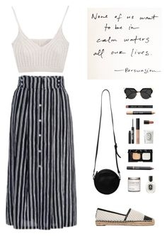 """""""""""I've always liked quiet people: you never know if they're dancing in a daydream or if they're carrying the weight of the world."""" -John Green, Looking for Alaska"""" by are-you-with-me on Polyvore featuring A.L.C., Tory Burch, Monki, Fendi, Diptyque, NARS Cosmetics, Urban Decay, Illamasqua and Bobbi Brown Cosmetics"""
