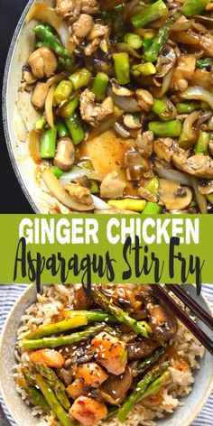 Recipes Videos This Ginger Chicken Asparagus Stir Fry is a quick and healthy dinner using fresh spring produce! This ginger chicken stir fry recipe will be a hit with your family. Make this easy stir fry for dinner tonight! Asparagus Stir Fry, Asparagus Recipe, Best Fries Recipe, Healthy Dinner Recipes, Cooking Recipes, Wok Recipes, Stir Fry Recipes, Paleo Dinner, Chicken Pasta Recipes