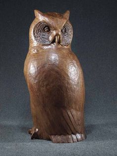 Great-horned-owl-wood-sculpture