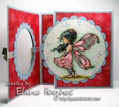 Card by Elaine Hughes using Sylvia Zet Wee Stamps - Silver Fairy. Coloured with ShinHan Touch Twin markers on Make it Colour Blending Card.    http://www.quixoticcards.com/blog