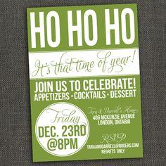 Holiday Christmas Party Invitation -  Printable or Printed for you. $15.00, via Etsy.