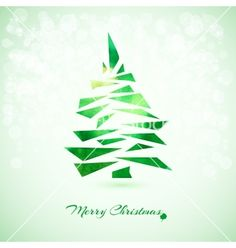 Christmas card with christmas tree vector by redicka on VectorStock®