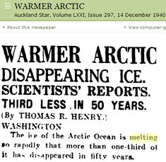 Arctic Sea Ice Thickness Is Identical To 75 Years Ago