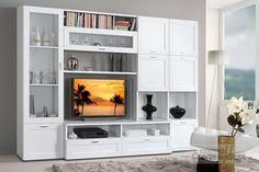 Parete soggiorno, colore bianco frassinato, come foto cm 300x47x213 h
