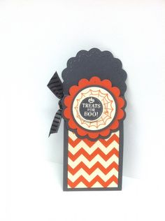 12 Days of Halloween: Day 3 Halloween Treat Holder (uses two tags die) -- video tutorial