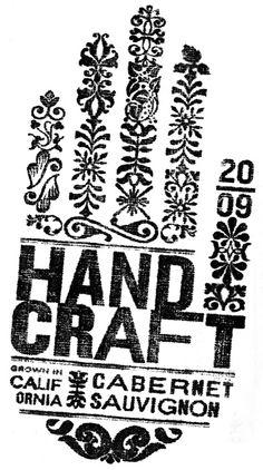 Hand Craft Cabernet Sauvignon block print // Jeff Hester