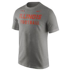 Illinois Fighting Illini Nike Facility T-Shirt - Charcoal 2
