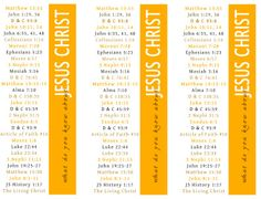 What do you know about Jesus bookmarks.  Great for my scriptures, or any book really.