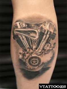 HARLEY ENGINE BIOMECHANICAL TATTOO - Szukaj w Google